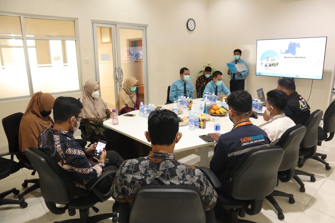 Jajaki Kolaborasi Program Yatim Mandiri Banten dengan RS Mata Achmad Wardi