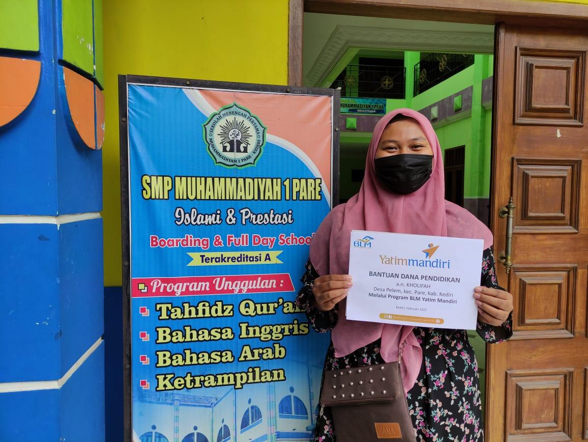 Bantuan Dana Pendidikan untuk Yatim Dhuafa Kediri