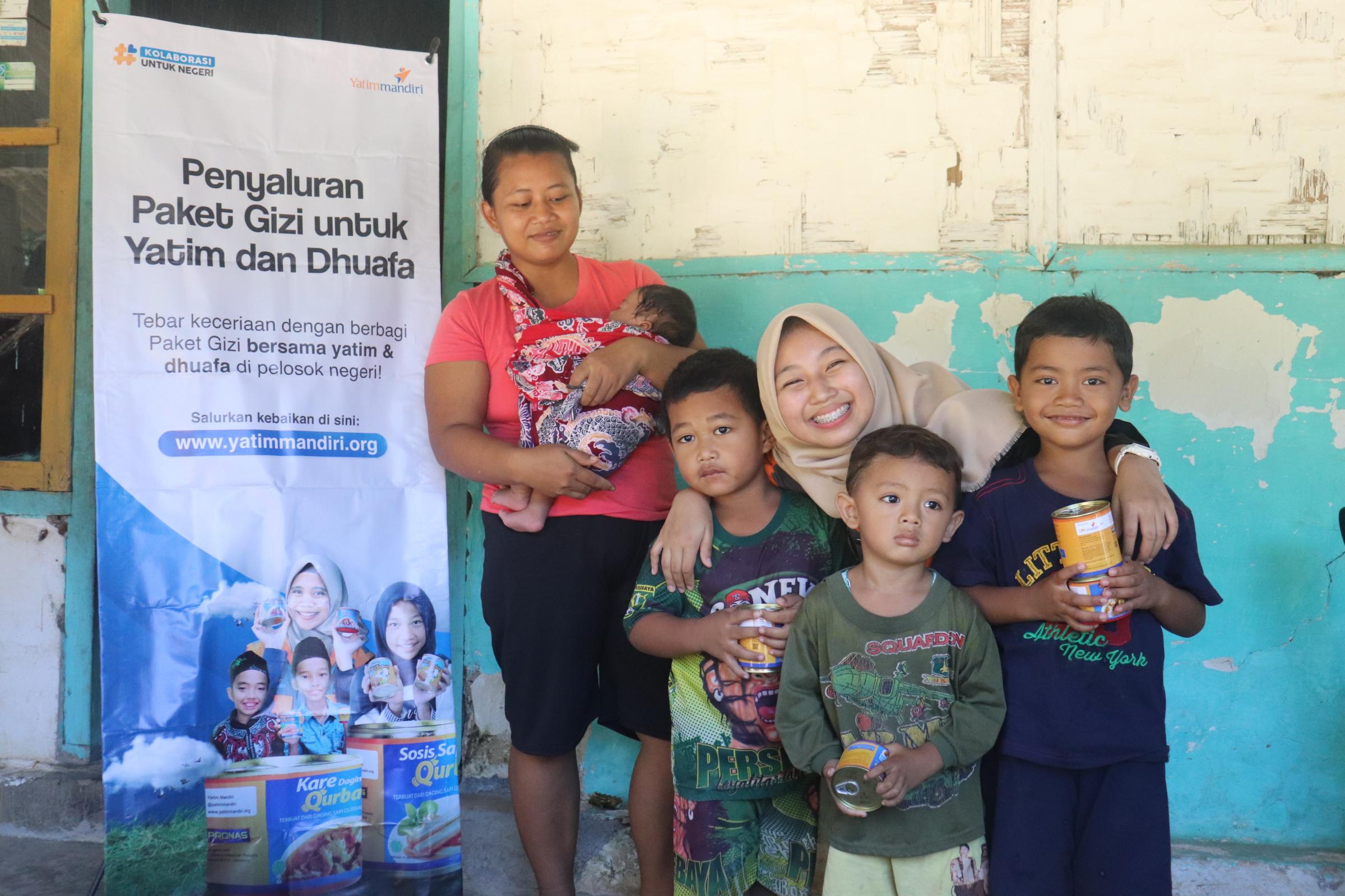 Penyaluran Paket Gizi untuk Yatim dan Dhuafa Pelosok Banyuwangi